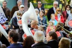 Ledare 4 Oktober 2015: Barr Frankrike: Stor festdes Vendanges Royaltyfri Bild