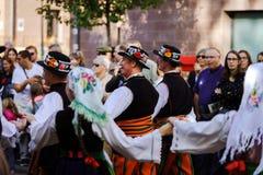 Ledare 4 Oktober 2015: Barr Frankrike: Stor festdes Vendanges Royaltyfria Foton