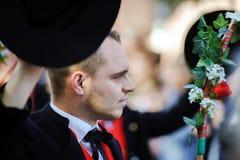 Ledare 4 Oktober 2015: Barr Frankrike: Stor festdes Vendanges Royaltyfri Foto