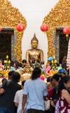 Ledare: Rai Khing tempel, Nakhon Pathom, Thailand, 15th April Arkivfoton