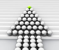 Ledare Sphere Means Team Work And Manage Arkivfoton