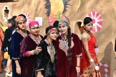 Ledare: Surajkund Haryana, Indien: Februari 06., 2016: Anden av karnevalet i den 30th internationalen tillverkar karneval Fotografering för Bildbyråer