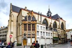 Ledare: 16th April 2017: Bryssel Belgien gammal arkitektur Arkivfoto