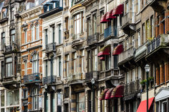 Ledare: 16th April 2017: Bryssel Belgien gammal arkitektur Royaltyfri Bild