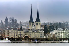 Ledare: 18th Februari 2017: Luzern Schweiz Royaltyfri Foto
