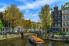 Ledare: 7th Maj 2017: Amsterdam Holland: Solig dag för vår in Royaltyfri Fotografi