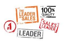 ledareförsäljningsstämplar Fotografering för Bildbyråer