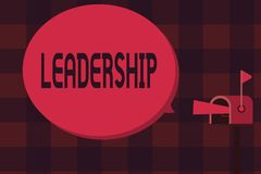 Ledarskap för ordhandstiltext Affärsidé för kapacitetsaktivitet som gäller leda en grupp av visning eller företaget stock illustrationer