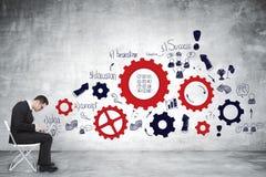 Ledarskap-, framgång- och idébegrepp Arkivbilder