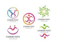 ledarskap, gemenskap och social vektor f?r omsorglogomall stock illustrationer