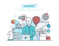 Ledarskap karriärtillväxt royaltyfri illustrationer
