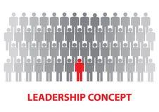 Ledarskap och arbetande lagbegrepp Vektorillustrationversion royaltyfri illustrationer