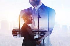 Ledarskap- och arbetsbegrepp stock illustrationer