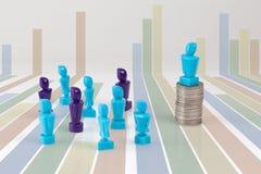 Ledarskap och begrepp för företags struktur Arkivbild