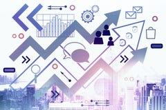 Ledarskap och framgångbegrepp vektor illustrationer