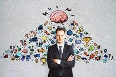 Ledarskap och marknadsföringsbegrepp arkivbild