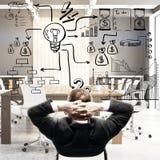Ledarskap- och marknadsföringsframgång Arkivfoton