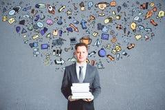Ledarskap- och utbildningsbegrepp Fotografering för Bildbyråer