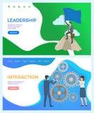 Ledarskap och växelverkan mellan arbetarledaren vektor illustrationer