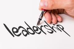Ledarskap på en begreppsmässig bild arkivbild