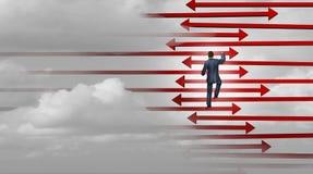 Ledarskap som segrar strategi stock illustrationer
