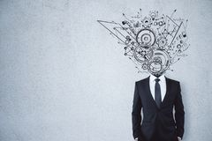 Ledarskap, teamwork och finans stock illustrationer