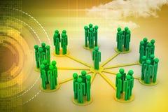 Ledarskapbegrepp, ledare och lag Arkivbild
