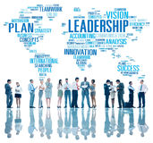 LedarskapframstickandeManagement Coach Chief globalt begrepp Arkivfoto