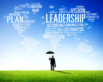 LedarskapframstickandeManagement Coach Chief globalt begrepp Arkivbild