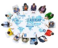 LedarskapframstickandeManagement Coach Chief globalt begrepp royaltyfri bild