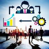 Ledarskapledareframstickande Coaching Manager Concept Arkivbild