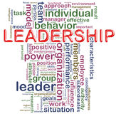 ledarskapwordcloud Arkivbilder