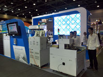Ledd byggnadsmaskin Ecolighttech asia 2014 royaltyfri bild