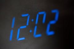 LEDD digital klocka Fotografering för Bildbyråer
