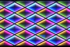 Ledd gardinvägg, nattbelysning av modern kommersiell byggnad vektor illustrationer