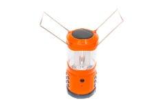 LEDD lampa, orange lykta på en vit bakgrund Royaltyfria Bilder