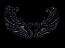 LEDD ljus ängelvinge Royaltyfria Bilder