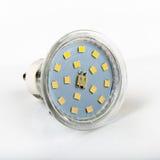Ledd ljus kula för diod på vit Royaltyfria Bilder