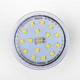 Ledd ljus kula för diod på vit Arkivbild