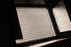 LEDD ljus satsnärbild för foto och för video Arkivfoton