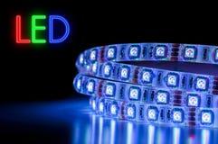 LEDD remsa Licht Streifen Arkivbild