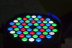 LEDD strålkastare Arkivfoto
