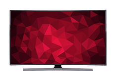 Ledd tv med den geometriska skärmen som isoleras på vit bakgrund Royaltyfri Bild