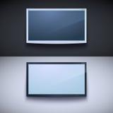 Ledd tv som hänger på väggen vektor illustrationer