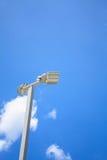 LEDDE gatalampor med energi-besparing teknologi Arkivfoton