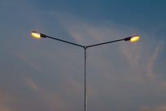 LEDDE ljus exponerar vägen Royaltyfri Bild