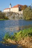 Ledec nad Sazavou, Tjeckien Arkivbild