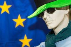 Ledenpop en EU-Sterren - Close-up Royalty-vrije Stock Foto