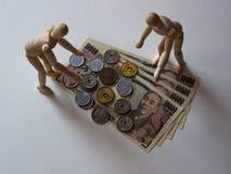 Ledenpop en Yen Stock Fotografie