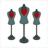 Ledenpop met hart Vector Illustratie